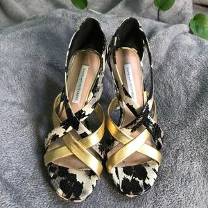 DVF Python Pump with Trendy Clear Heels